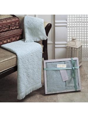 Комплект полотенец Sofi de Marko. Цвет: голубой