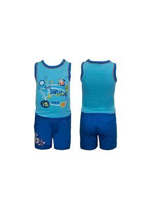 Комплект одежды WWW. Цвет: голубой