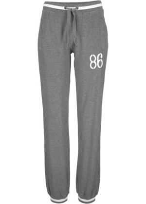 Спортивные брюки стретч (серый меланж) bonprix. Цвет: серый меланж