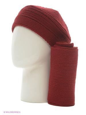 Берет;  шарф Krife. Цвет: бордовый