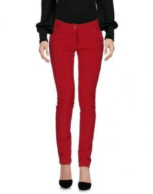 Повседневные брюки XTSY. Цвет: кирпично-красный