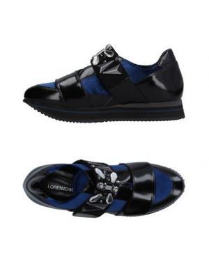 Низкие кеды и кроссовки LORENZO MARI. Цвет: синий