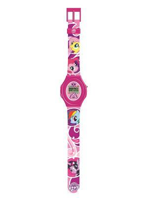 Часы наручные электронные My Little Pony,цвет:розовый Pony. Цвет: темно-фиолетовый, бледно-розовый, розовый, фиолетовый