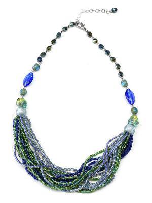 Колье Bohemia Style. Цвет: зеленый, синий