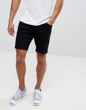 Farah Черные джинсовые шорты Drake. Цвет: черный
