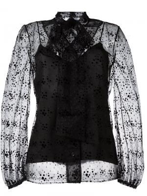 Прозрачная блузка Virgo Racil. Цвет: чёрный