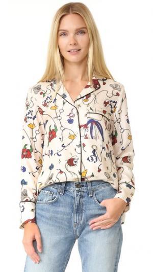 Блуза с принтом Edition10. Цвет: рисунок
