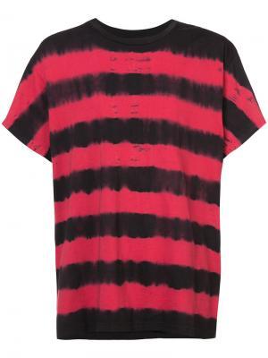 Полосатая футболка Amiri. Цвет: чёрный