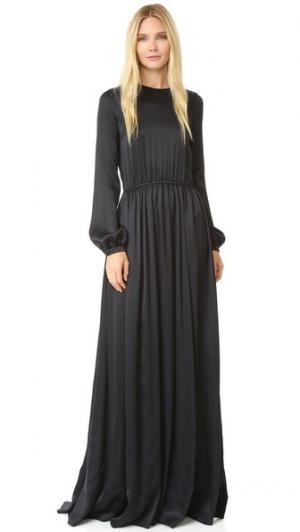 Длинное вечернее платье Rochas. Цвет: голубой