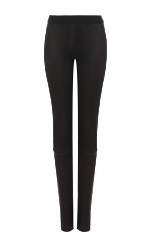Кожаные брюки-скинни Ann Demeulemeester. Цвет: черный