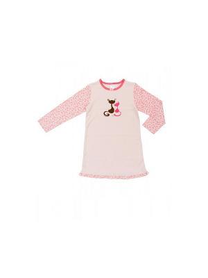 Ночная сорочка Модамини. Цвет: розовый, коричневый