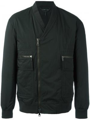 Байкерская куртка-бомбер Helmut Lang. Цвет: чёрный