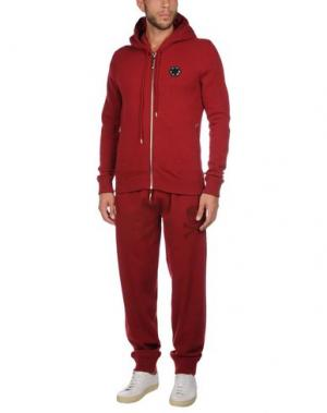 Спортивный костюм PHILIPP PLEIN. Цвет: красно-коричневый