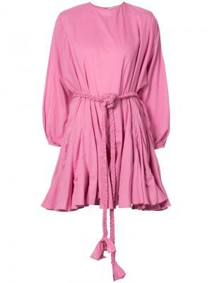 Платье с расклешенной юбкой Rhode Resort. Цвет: розовый и фиолетовый