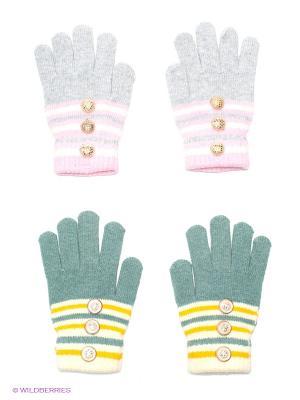 Перчатки, 2 пары FOMAS. Цвет: серый, серо-зеленый, желтый
