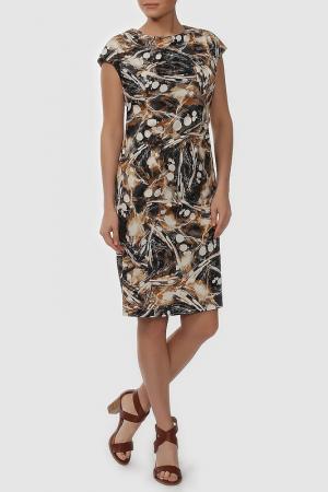Платье NATALIA PICARIELLO. Цвет: коричневый