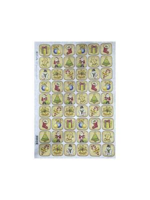 Декупажная карта 32*45 рождественские пряники Idigo. Цвет: сиреневый, прозрачный