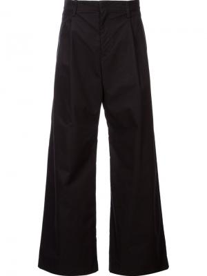 Широкие брюки Yoshio Kubo. Цвет: чёрный