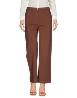 Повседневные брюки QL2 QUELLEDUE. Цвет: коричневый