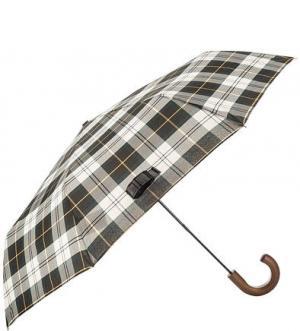 Складной зонт с деревянной ручкой Barbour. Цвет: хаки