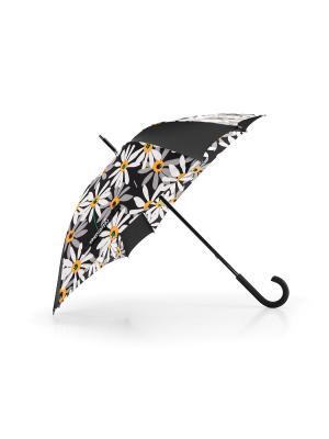 Зонт-трость Umbrella margarite Reisenthel. Цвет: черный,желтый,белый