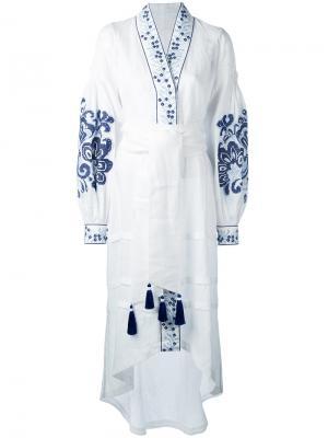 Платье Berry Yuliya Magdych. Цвет: белый