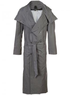Technical trench coat Y / Project. Цвет: серый