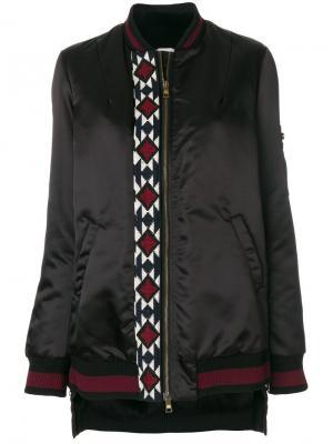 Куртка-бомбер с вышивкой Bazar Deluxe. Цвет: чёрный