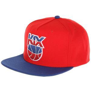 Бейсболка с прямым козырьком  Petro Snapback Red/Blue K1X. Цвет: синий,красный