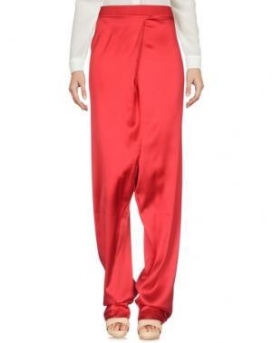 Повседневные брюки ES'GIVIEN. Цвет: красный