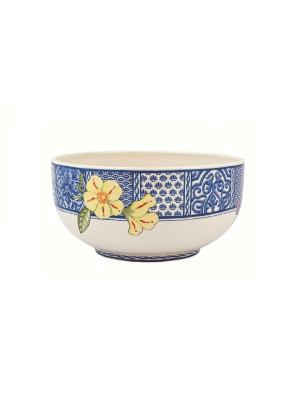 Блюдо Летняя лужайка 23,5см Elff Ceramics. Цвет: белый, голубой, бежевый