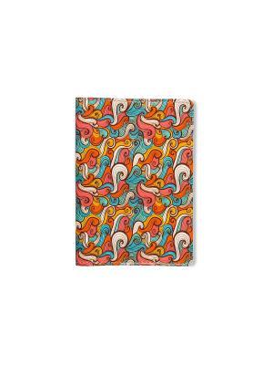 Обложки для паспорта  Волны цветные TonyFox. Цвет: красный, оранжевый, белый, синий, зеленый, голубой