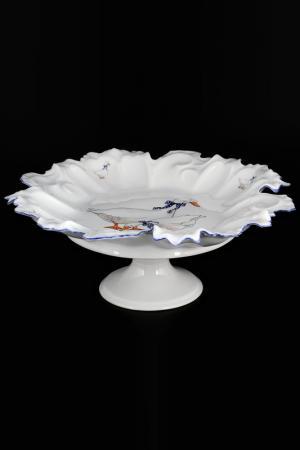 Блюдо фигурное круглое 35 см QUEENS CROWN. Цвет: мультиколор