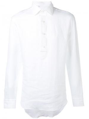 Рубашка с пуговичной планкой Salvatore Piccolo. Цвет: белый