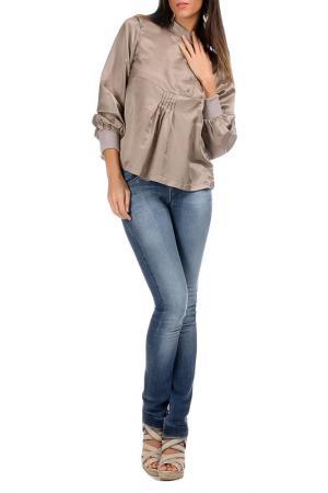 Блуза Laklook. Цвет: бежевый
