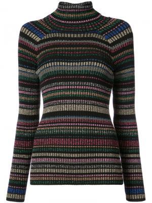 Полосатый свитер с блестками Milly. Цвет: многоцветный