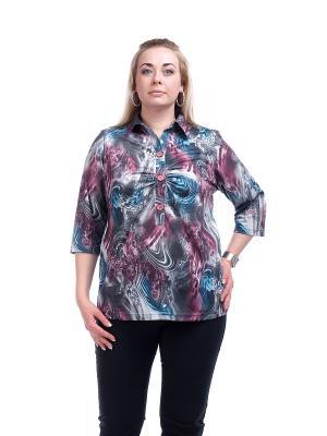 Блузка OLSI. Цвет: сиреневый