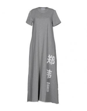 Длинное платье WEILI ZHENG. Цвет: серый