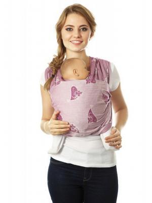 Слинг-шарф Птички Mum`s Era. Цвет: бордовый, лиловый, молочный