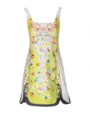 Короткое платье PICCIONE•PICCIONE. Цвет: желтый