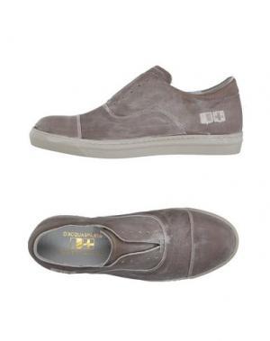 Низкие кеды и кроссовки D'ACQUASPARTA. Цвет: голубиный серый