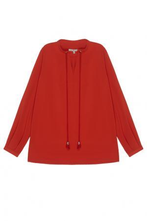 Однотонная блузка VIKTORIA IRBAIEVA. Цвет: красный