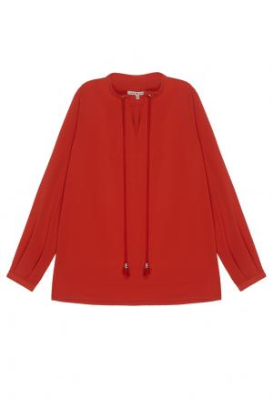 Однотонная блузка VIKTORIA IRBAIEVA. Цвет: алый