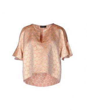 Блузка FABRIZIO LENZI. Цвет: лососево-розовый