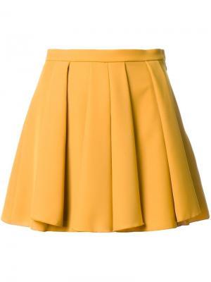 Короткая юбка Guild Prime. Цвет: жёлтый и оранжевый