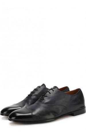 Классические кожаные оксфорды Doucals Doucal's. Цвет: темно-синий
