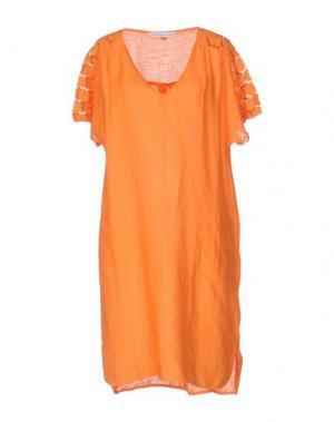 Короткое платье LA FABBRICA DEL LINO. Цвет: оранжевый