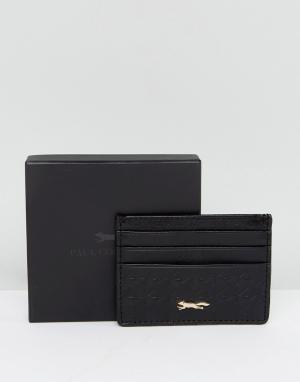 Paul Costelloe Черная кожаная кредитница с тиснением. Цвет: черный