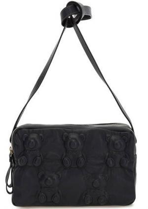 Маленькая кожаная сумка с двумя отделами Io Pelle. Цвет: синий