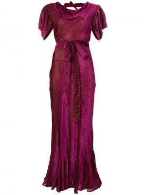 Вечернее платье с поясом Attico. Цвет: розовый и фиолетовый